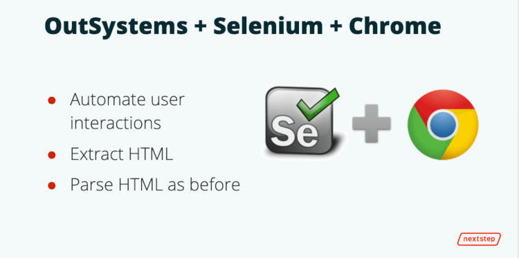 OutSystems extension with Selenium and Chrome driver